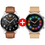 Pachet PROMO HUAWEI: Watch GT2, 46mm, Pebble Brown +  Watch GT2 Diana B19V, 42mm, Gravel Biege